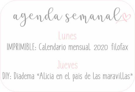 Agenda Semanal 11/11 - 17/11