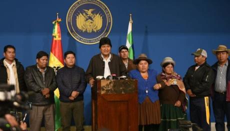 Presidente Evo Morales anuncia nuevas elecciones generales en Bolivia.