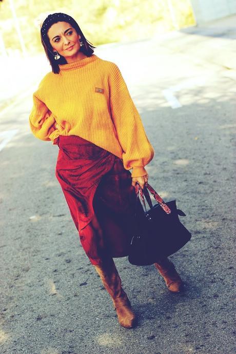 Falda cruzada+ jersey amplio