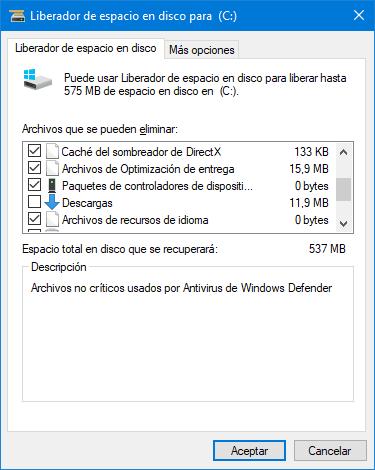 Microsoft eliminará la carpeta Descargas del Liberador de espacio en disco en Windows 10
