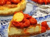 Cheesecake salada mozzarella tomatitos asados