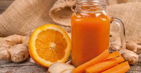 antibioticos naturales para la garganta y la boca naranja zanahoria zumos naturales