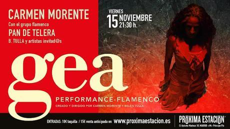 FLAMENCO | Carmen Morente transforma el escenario con la performance - flamenco GEA.