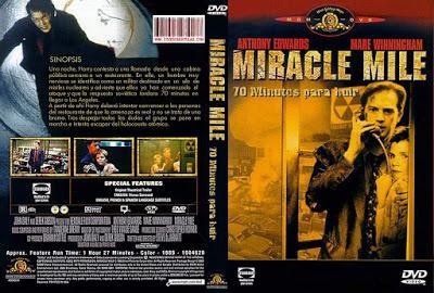 70 MINUTOS PARA HUIR (Miracle Mile) (USA, 1988) Apocalíptico, Anticipación, Romántico