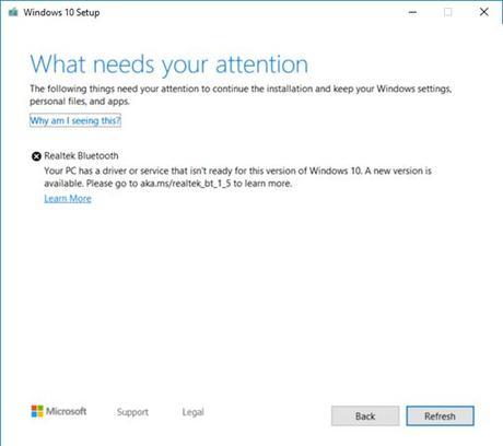 Los controladores Realtek Bluetooth impiden la actualización de Windows 10 1909 o 1903 – Solución