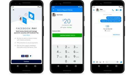 Cómo enviar dinero por facebook pay