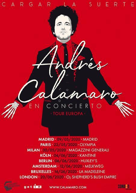 Calamaro anuncia gira europea para 2020 con concierto en Madrid (habrá más en España)