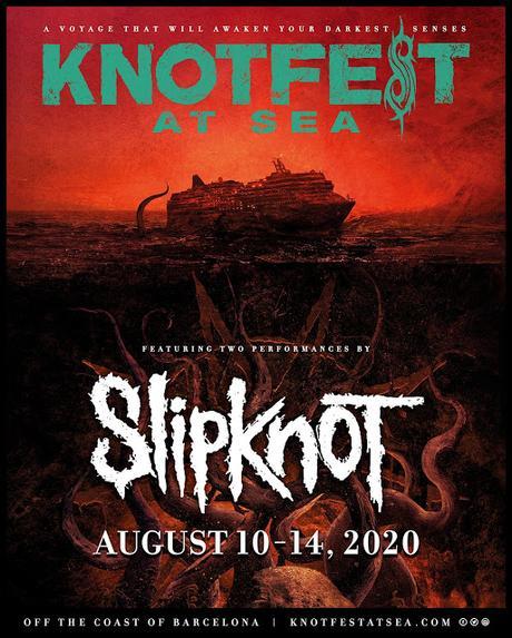 Slipknot anuncian su propio crucero desde Barcelona para agosto de 2020
