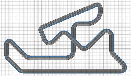 Nº 1419 al  Nº1422 . Circuito de velocidad de Navarra.