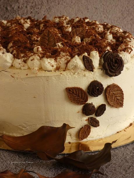 Tarta de Chantilly y Moras sin Azúcar