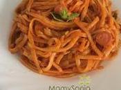 Espaguetis tomate olla