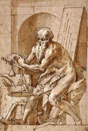 Pitágoras y Euclides en el Palacio Farnesio de Piacenza