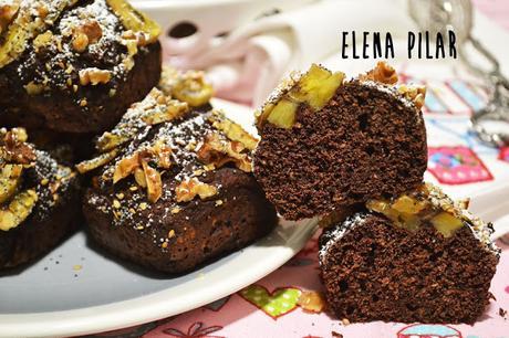 Bizcochitos de plátano y cacao (integrales y sin azúcar)