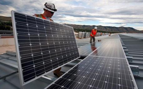 Instalación de paneles de solar fotovoltaica
