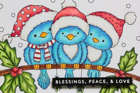 Pencil Colored Christmas Card