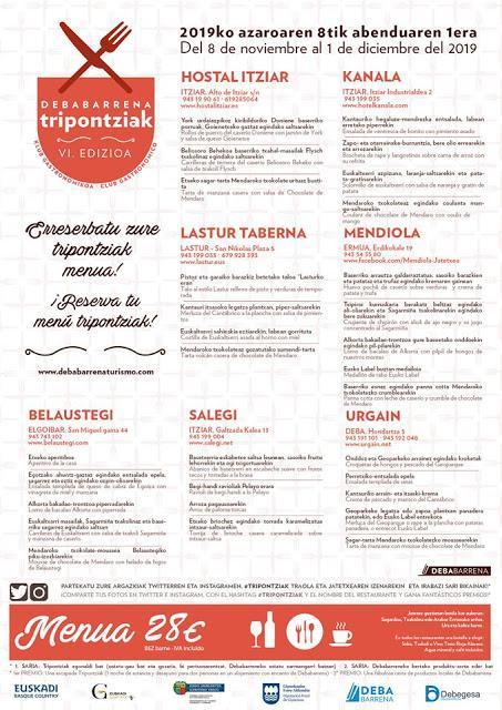 Tripontziak, ruta gastronómica para personas con mucho saque