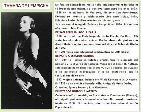 TAMARA DE LEMPICKA,