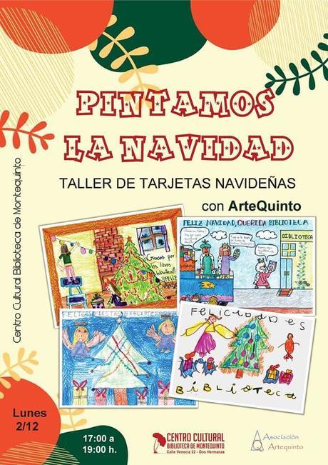 "Taller de tarjetas navideñas: ""Pintamos la Navidad"" – Artequinto"
