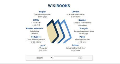 Descargar libros de texto gratis en Wikibooks
