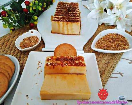 Pastel de Crema de Galletas y Crocanti
