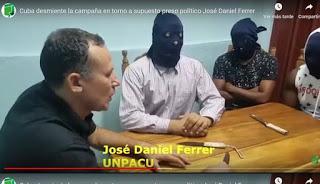 Ferrer, preso en Cuba por delincuente