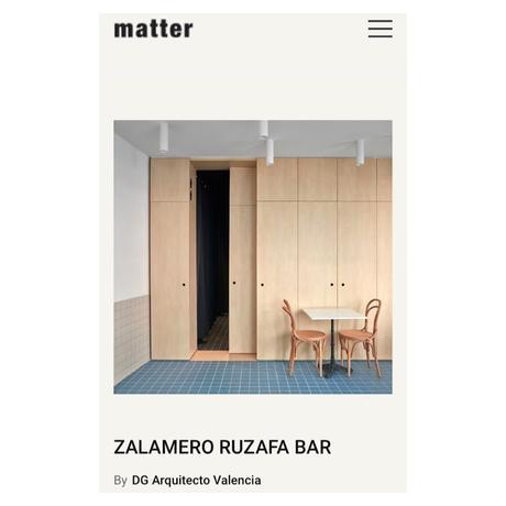 ZALAMERO RUZAFA en MATTER MAGAZINE