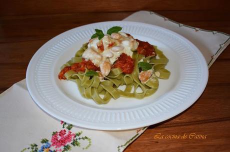 Pasta con dos salsas
