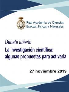 Declaración sobre la financiación y gestión de la investigación científica en España-2019