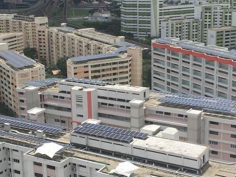 Singapur está instalando fotovoltaica a gran escala en sus edificaciones