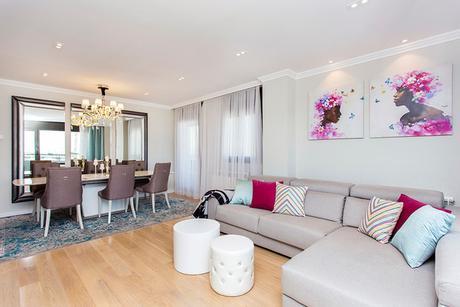 Interior design and decoration in Diagonal Mar eclectico-salon