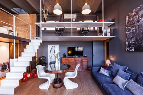Loft Can Felipa eclectico-salon