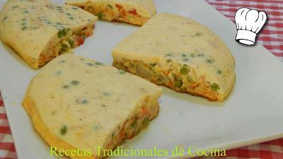 Receta de fritata muy jugosa (Tortilla Italiana de aprovechamiento)