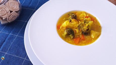 Sopa de merluza con brócoli