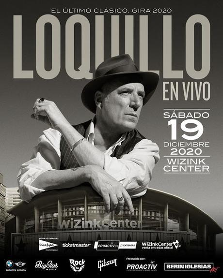 Loquillo anuncia concierto en el WiZink Center de Madrid el 19 de diciembre de 2020