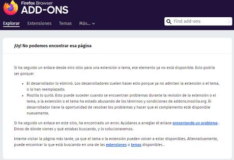 Mozilla elimina las extensiones de Avast de su tienda de complementos