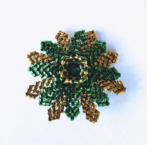 broche eguzkilore o flor del sol
