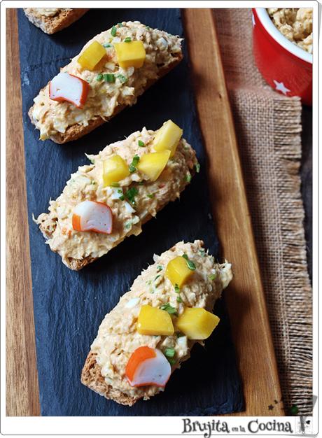 Tosta atún y mango al curry