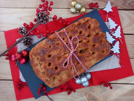 Brunsviger. Brioche danés navideño. Masas. Desayuno, merienda, horno, Cuca. Receta de Navidad