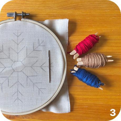 DIY: Bastidor bordado navideño