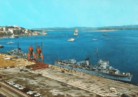 1969:El minador «Marte» de la Armada Española en el Puerto de Santander