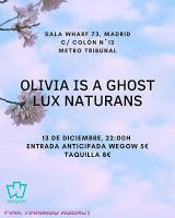 Concierto de Lux Natura y Olivia is a ghost en Wharf 73