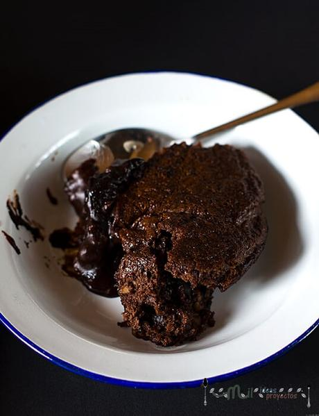 como preparar pudding de brownie