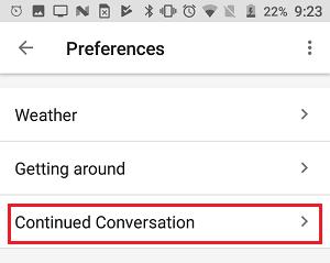 Cómo habilitar la conversación continua en Google Home
