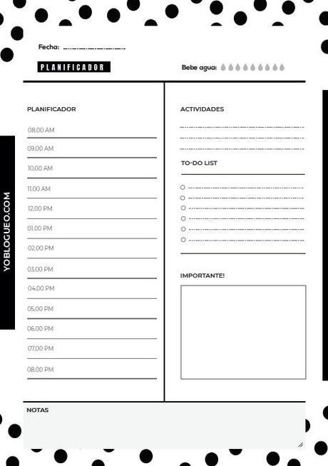 Planificadores diarios gratuitos con listas de tareas