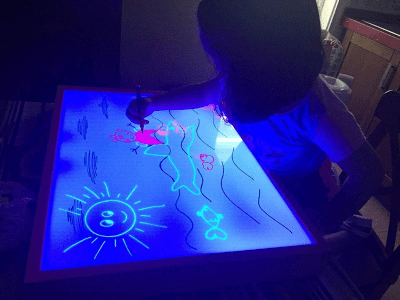 Mesas de luz para niños y cómo utilizarlas