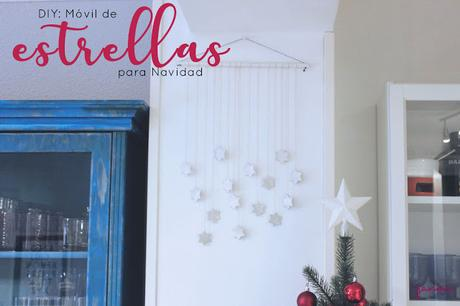 DIY: Móvil de estrellas para Navidad