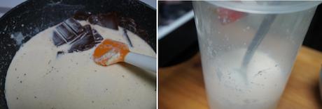 Flan de chocolate blanco y negro sin horno