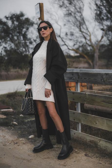 black coat - look de frio