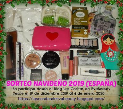 sorteo blogger navideño de belleza, maquillaje y cosmetica