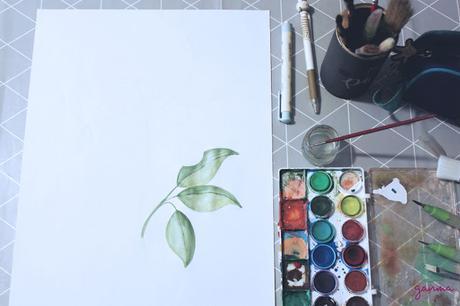 Pintando: Lámina floral para Navidad